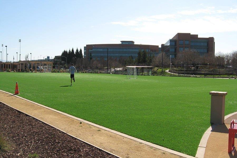 artificial turf soccer field. Garfield Park \u2013 Google Soccer Field: Mountain View, California Artificial Turf Field