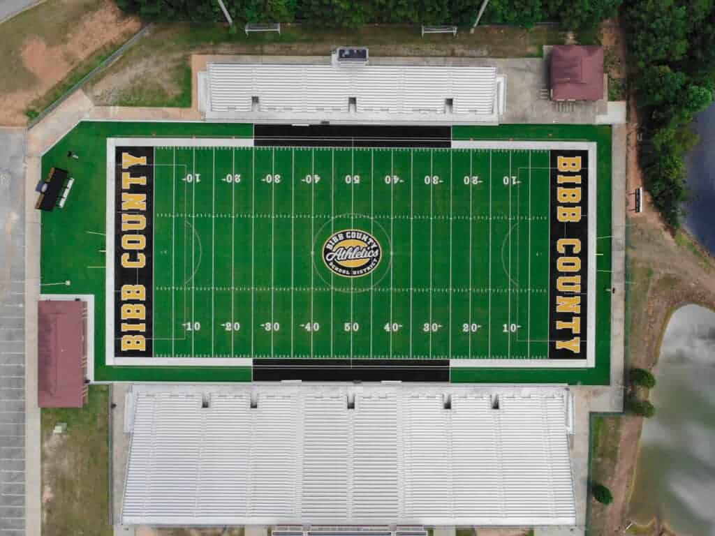Ed Defore Sports Complex Football Field Brock Usa Shock Pads And Infill For Artificial Turf