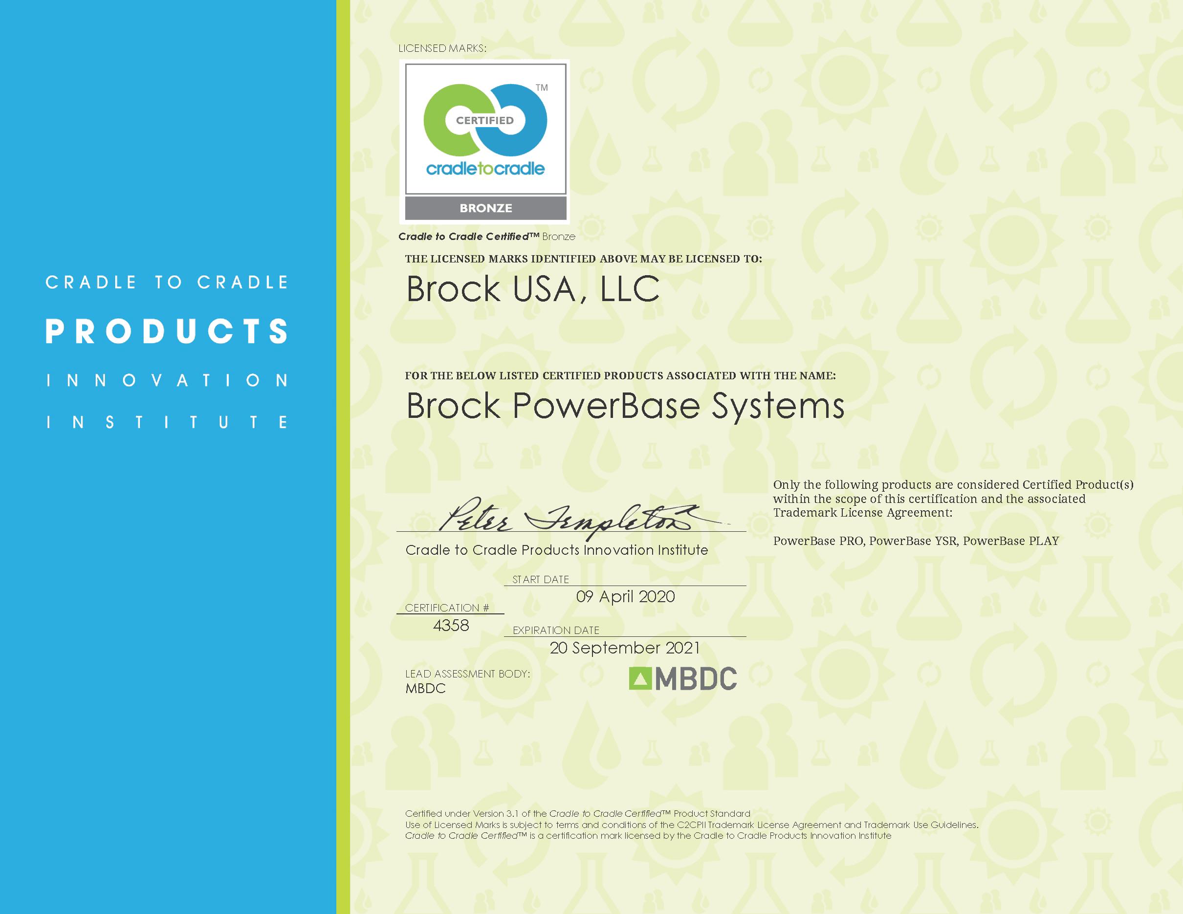 13. Brock PowerBase C2C Certificate 2020-2021
