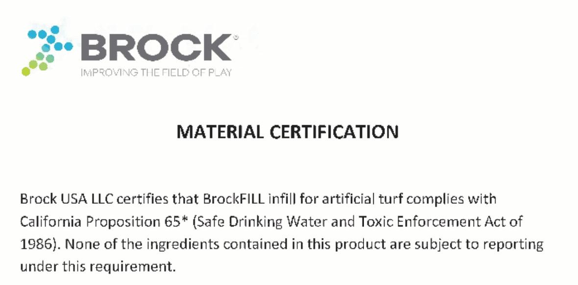 Brockfill Cert 1
