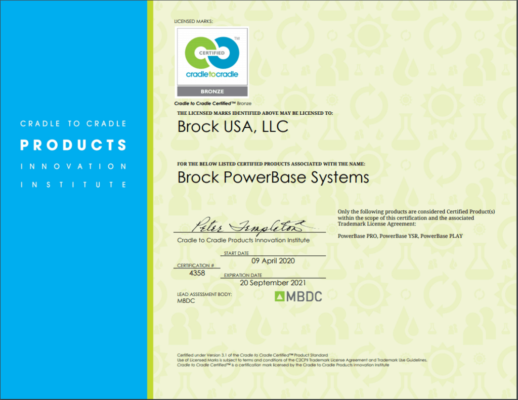 Brock USA's Cradle to Cradle Certification