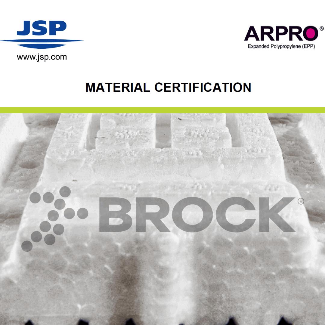 Brock's JSP Compliance Certification