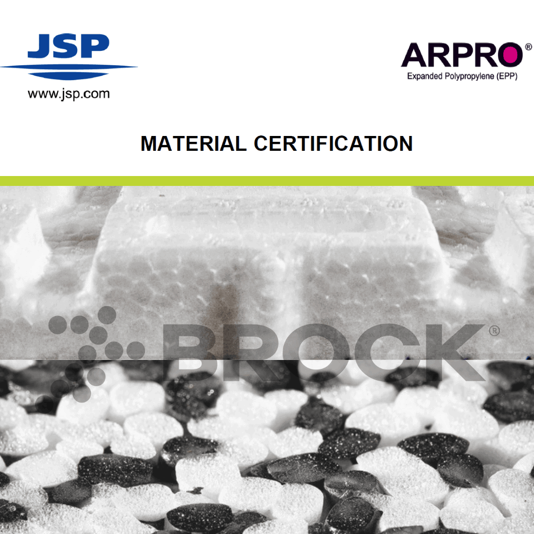 Brock's PowerBase and SP Series Material Certification