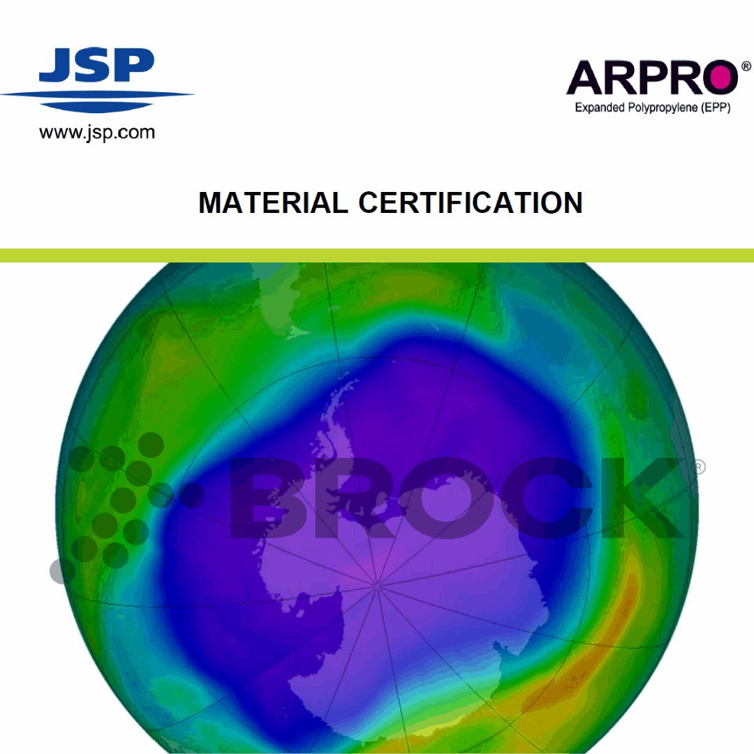 Brock's JSP Material Certification