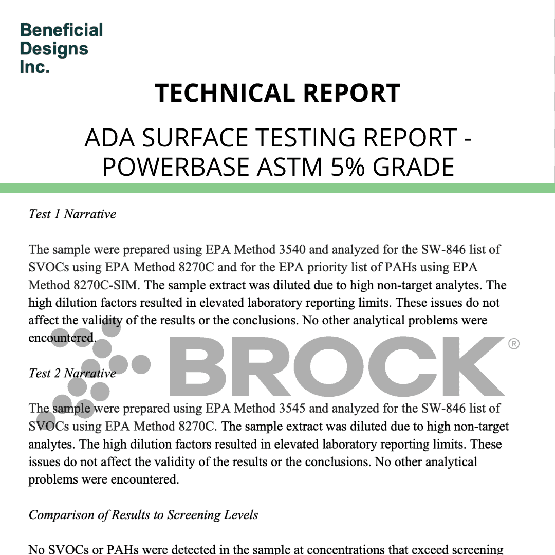 ADA Surface Testing Report – PowerBase ASTM 5% Grade