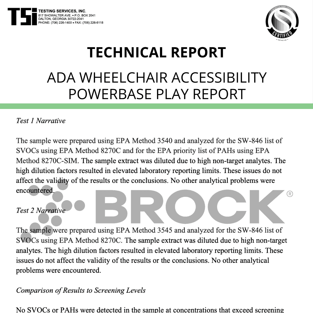 ADA Wheelchair Accessibility – PowerBase PLAY Report