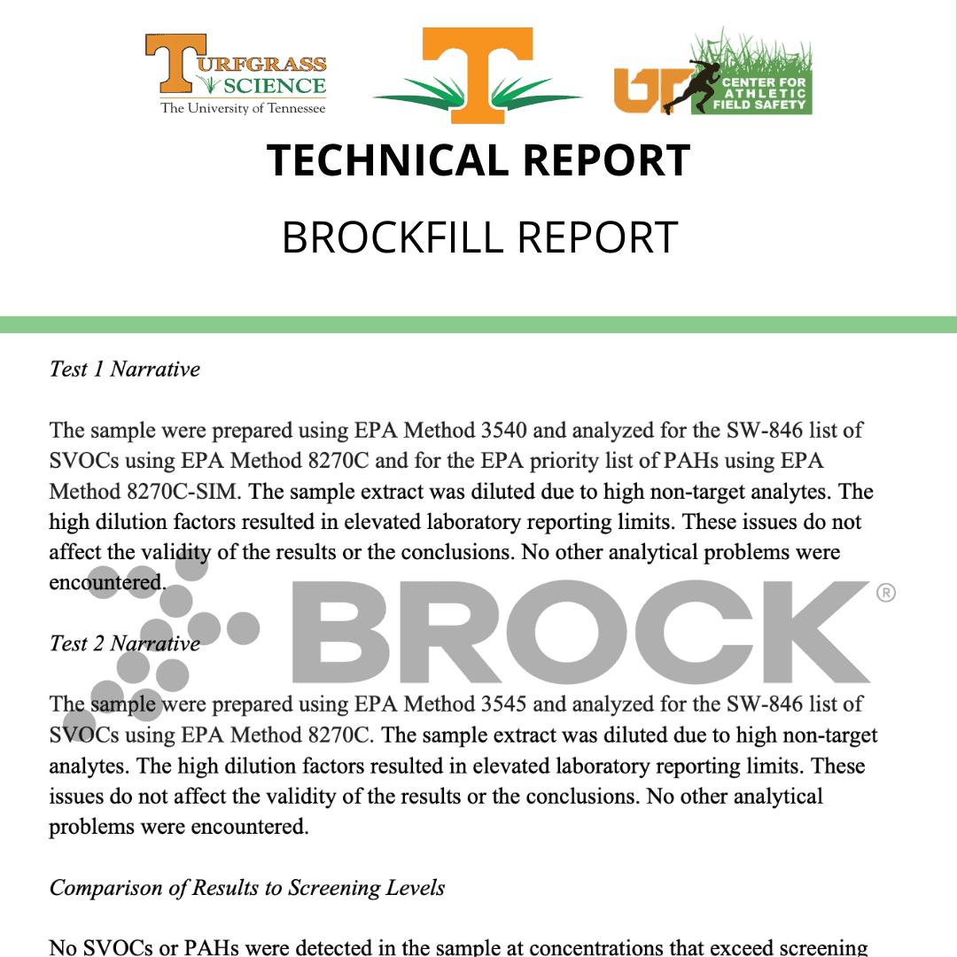 University of Tennessee  BrockFill Report 2-4-19