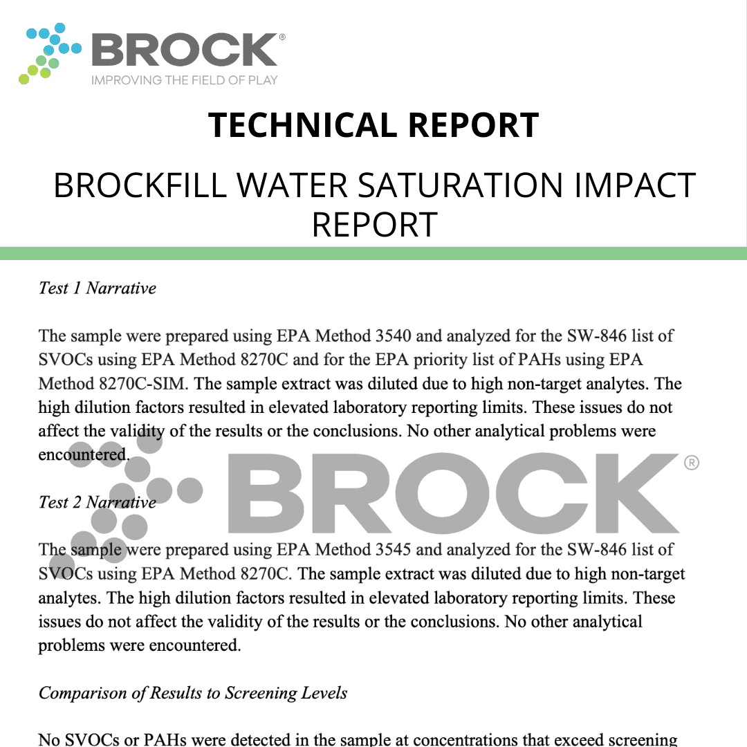 BrockFILL Water Saturation Impact Report