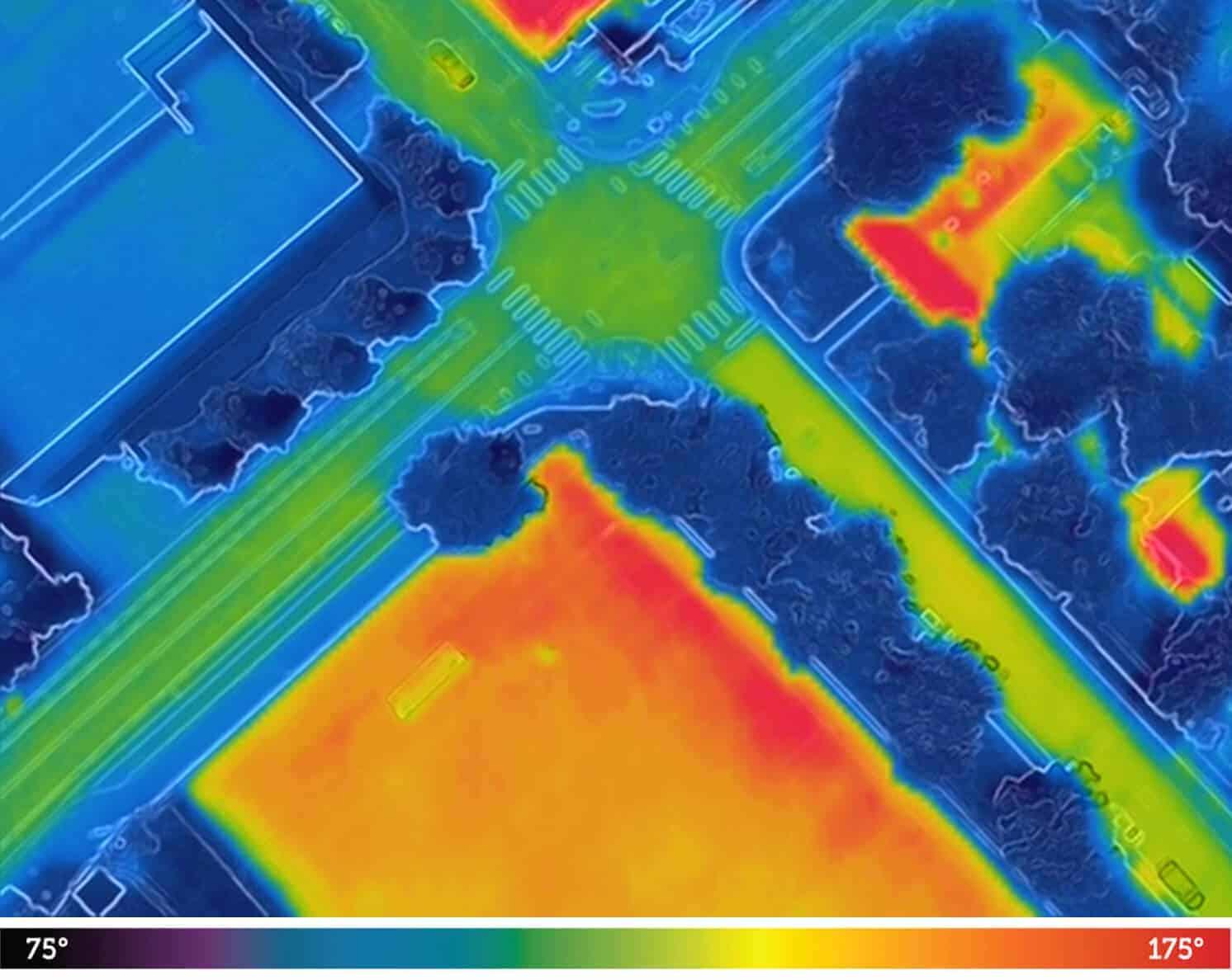 Outdoor temperature: 85F: Field temp 170F, SBR infill